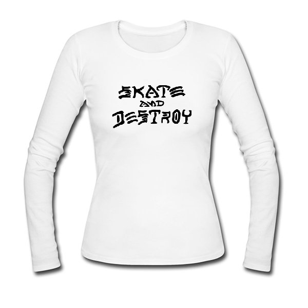 Женский лонгслив Thrasher Skate and Destroy