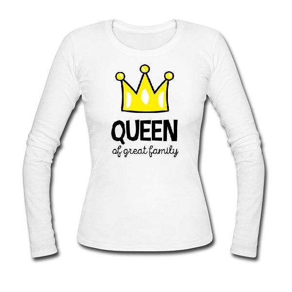 Женский лонгслив Королева большой семьи