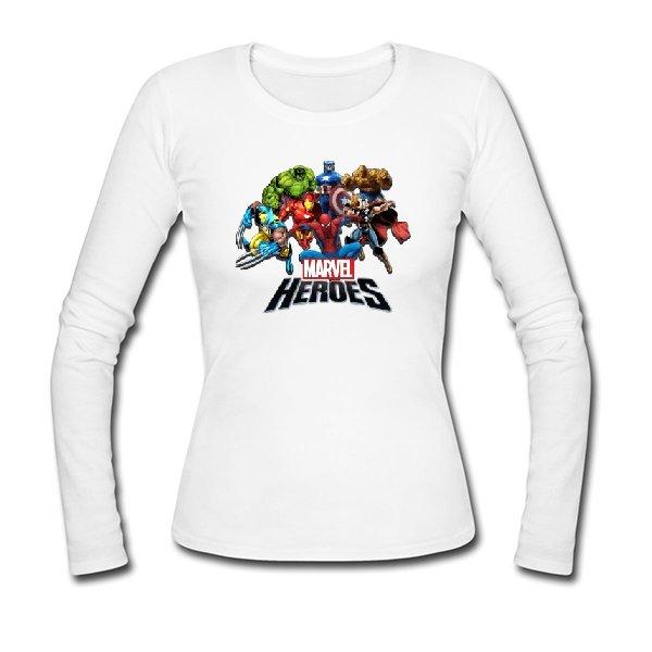 Женский лонгслив Герои Marvel