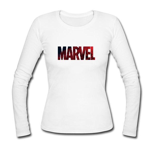 Женский лонгслив Marvel logo