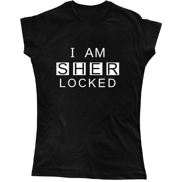 Женская футболка I am Sher Locked
