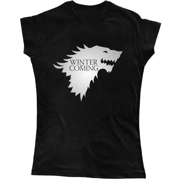 Женская футболка Надпись Зима Близко