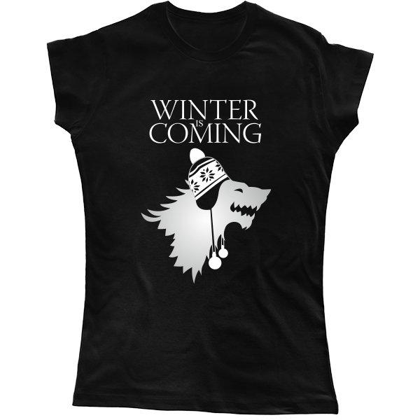 Женская футболка Зима Близко