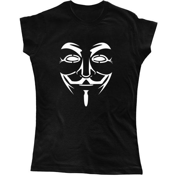 Женская футболка Маска Гая Фокса