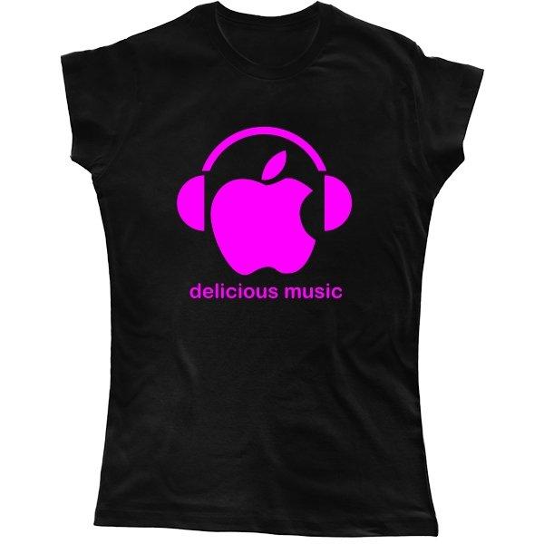 Женская футболка Delicious music