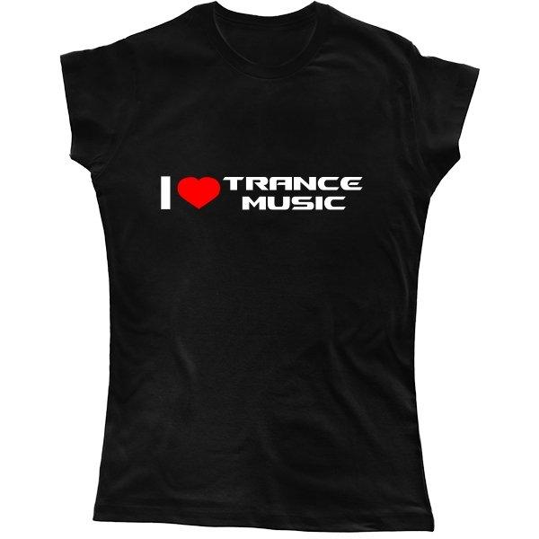 Женская футболка I Love Trance Music
