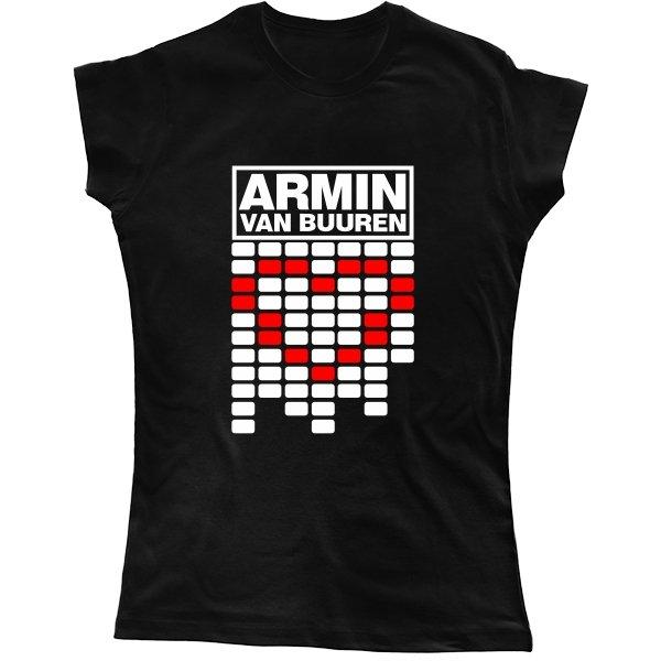 Женская футболка Armin van Buuren сердце