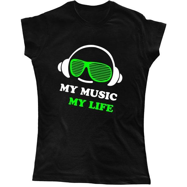 Женская футболка Моя Музыка - Моя Жизнь