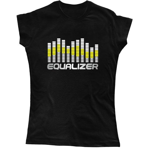 Женская футболка Графический Эквалайзер