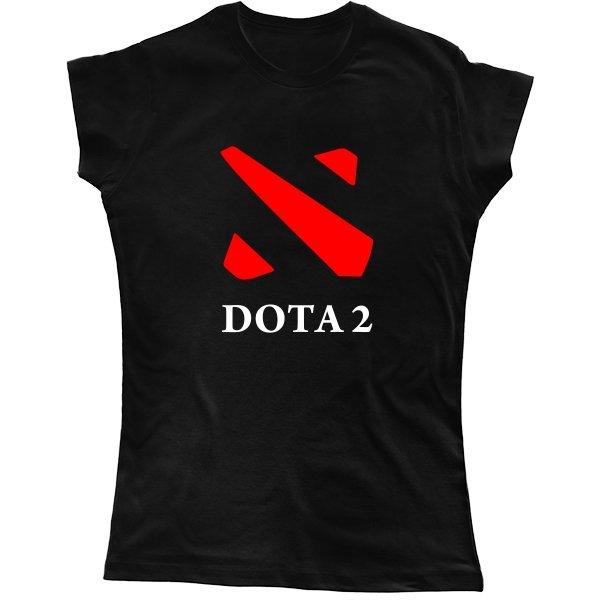 Женская футболка Dota 2 контур