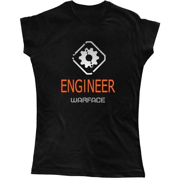 Женская футболка Warface Инженер