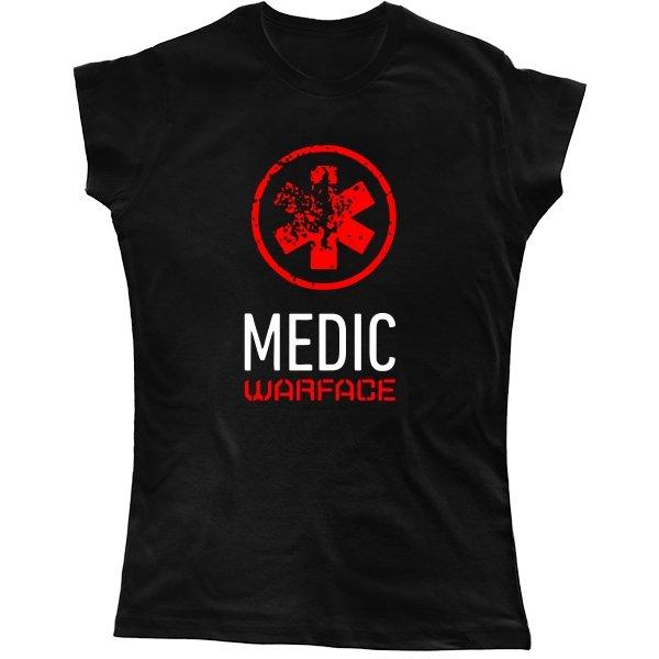 Женская футболка Warface Медик