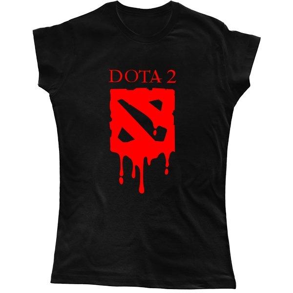 Женская футболка Кровавая Дота-2