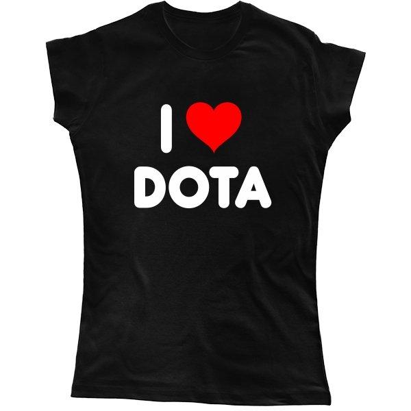 Женская футболка I Love Dota