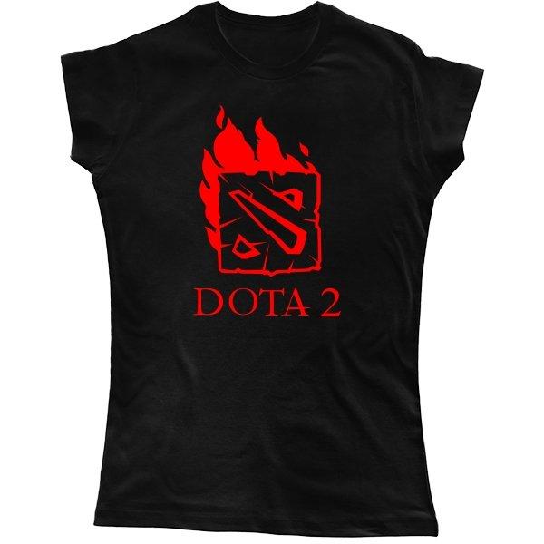 Женская футболка Огненная Dota 2