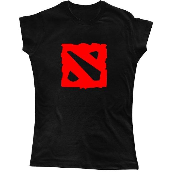 Женская футболка Логотип Дота