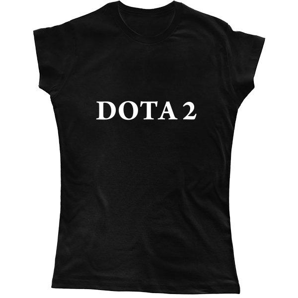Женская футболка Надпись Дота 2