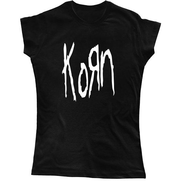 Женская футболка С группой Korn