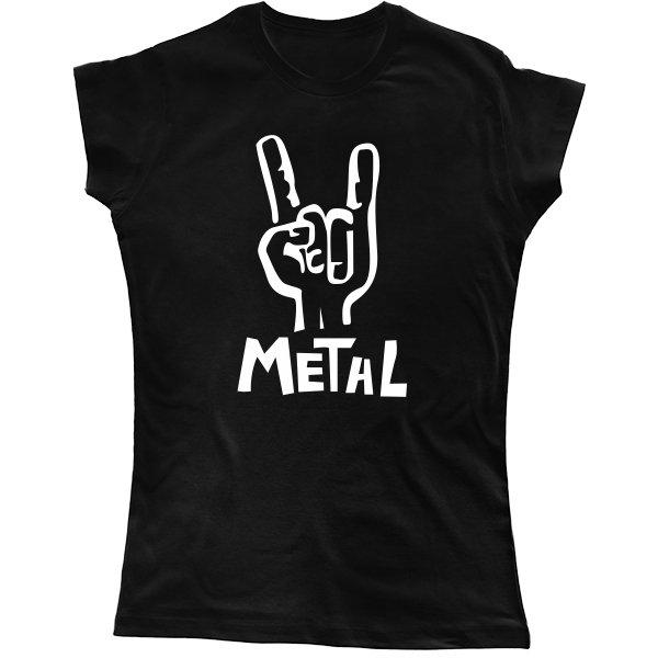 Женская футболка Metal