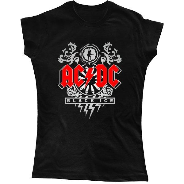 Женская футболка AC DC Black Ace