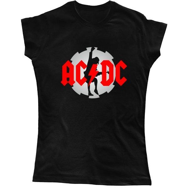 Женская футболка с логотипом AC DC
