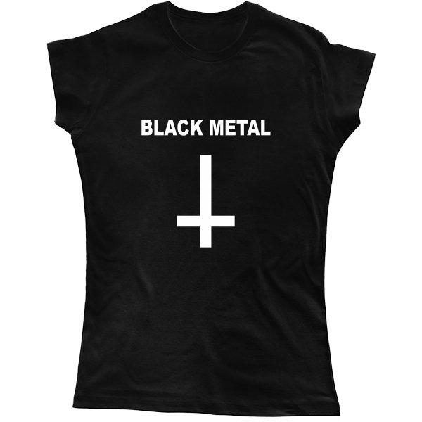 Женская футболка Black Metal