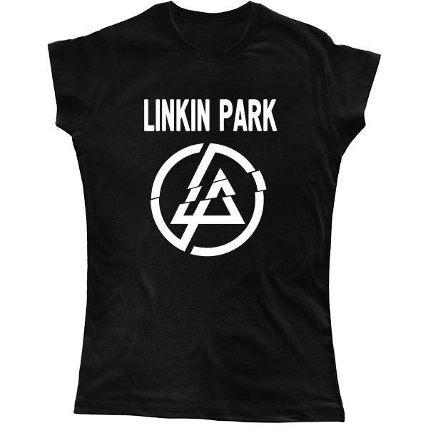 Женская футболка Линкин Парк логотип
