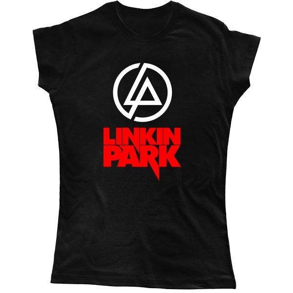 Женская футболка с надписью Линкин Парк