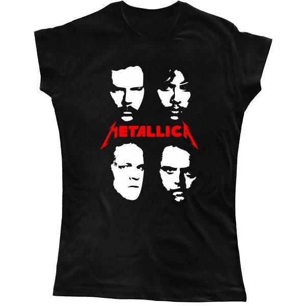 Женская футболка Metallica лица