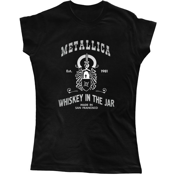 Женская футболка с Металликой