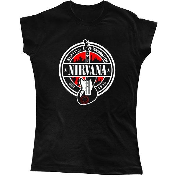 Женская футболка с группой Нирвана