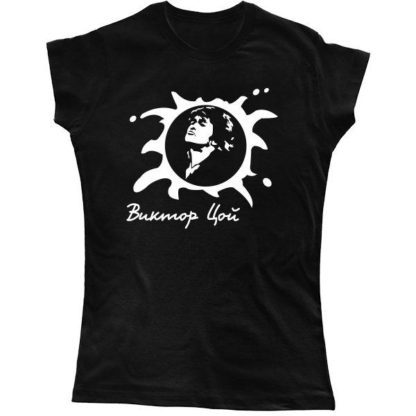 Женская футболка с Виктором Цоем