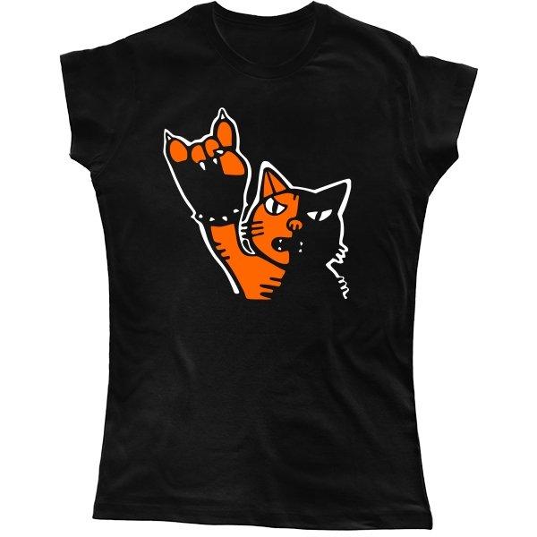 Женская футболка Рок Кот