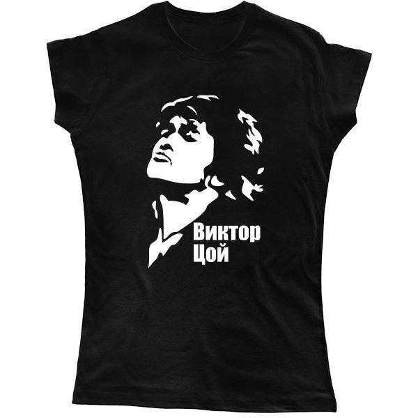 Женская футболка Виктор Цой