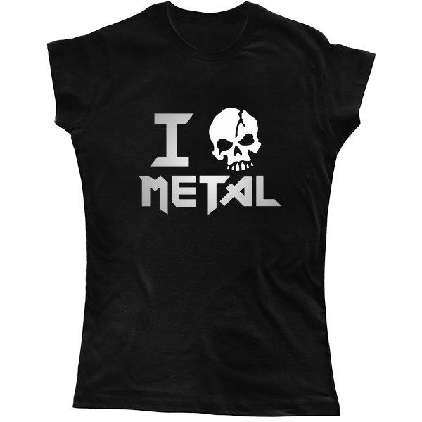 Женская футболка Я Люблю Метал