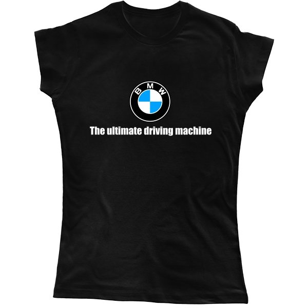 Женская футболка The ultimate driving machine