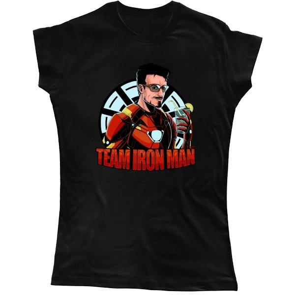 Женская футболка Команда Железного Человека
