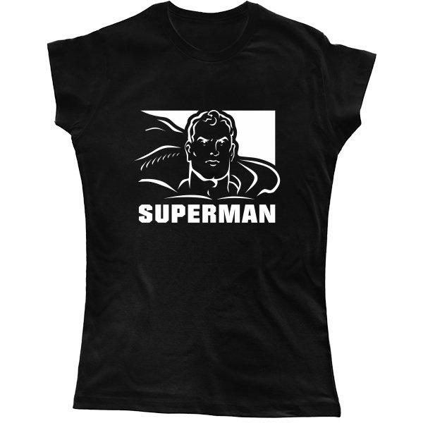 Женская футболка с Суперменом