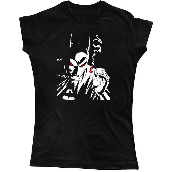 Женская футболка Курящий Бэтмен