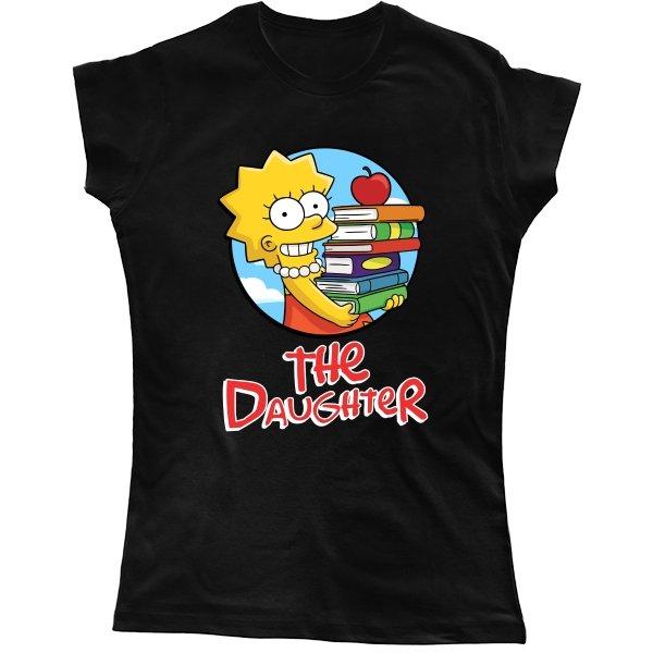 Женская футболка Дочь (Симпсоны)