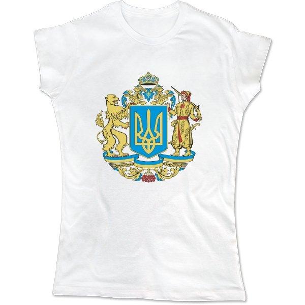 Женская футболка Большой Герб Украины