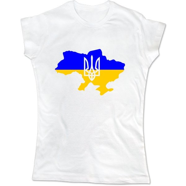 Женская футболка Карта с Трезубцем