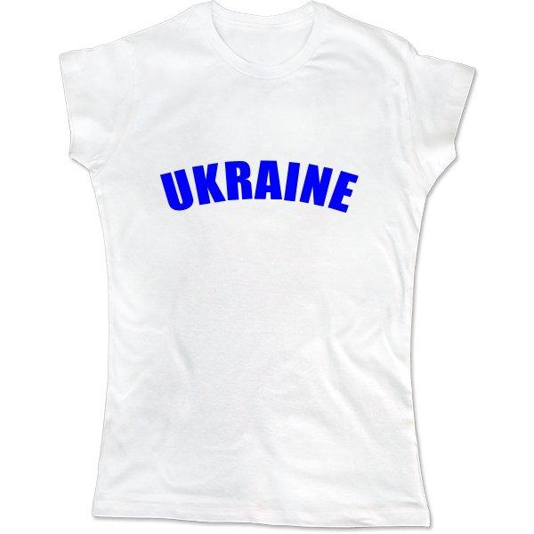 Женская футболка Надпись Ukraine