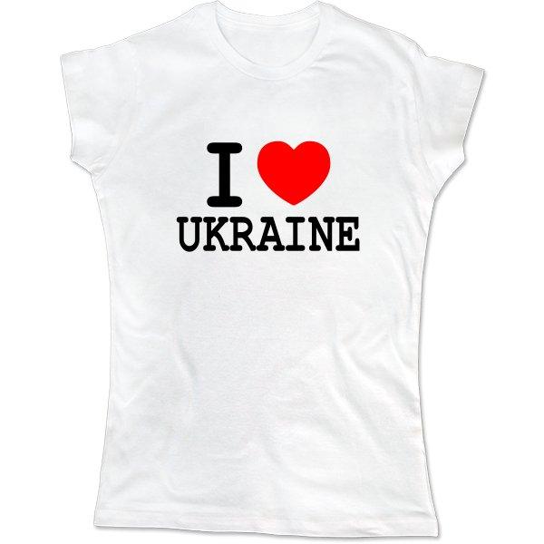 Женская футболка Я Люблю Украину