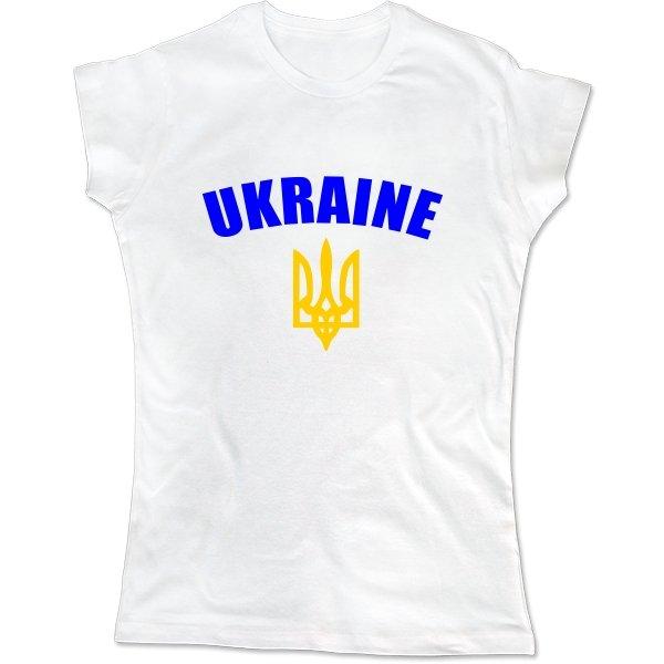 Женская футболка Трезубец с надписью