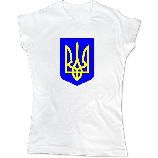 Женская футболка Герб Трезубец