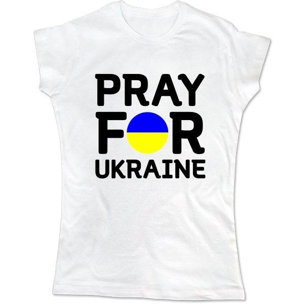 Женская футболка Молись за Україну