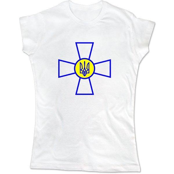 Женская футболка Военный Символ Украины