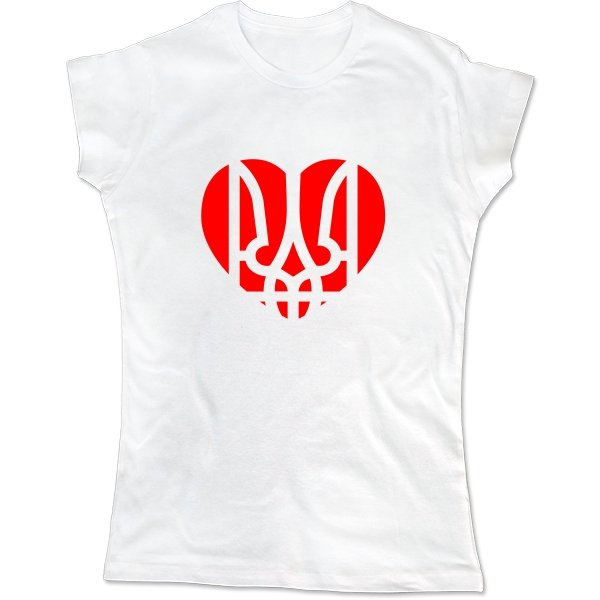 Женская футболка Украина в Сердце