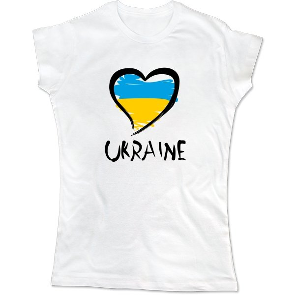 Женская футболка Сердце Ukraine